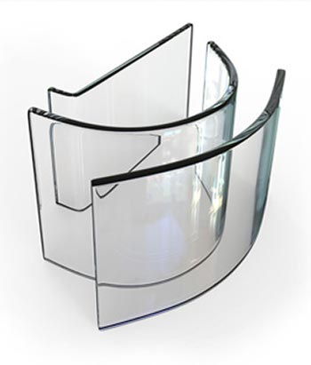 Curved Underwater Window